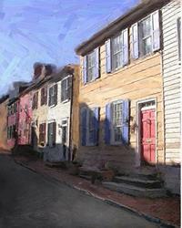Art: Side Street Homes 2 by Artist Anthony Allegro