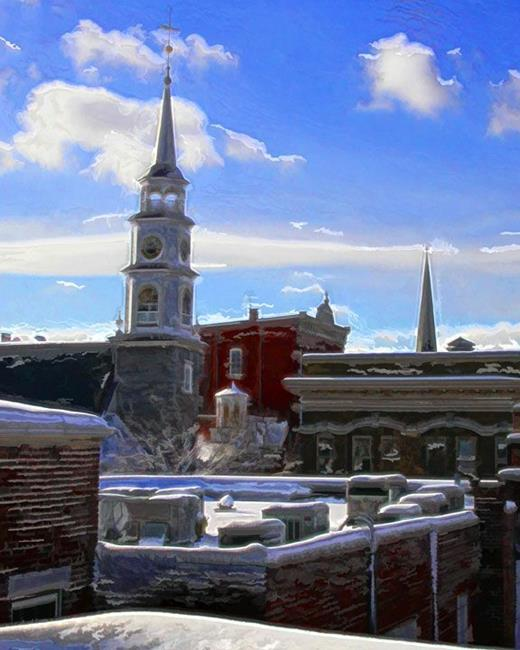 Art: Snowy Rooftops by Artist Anthony Allegro