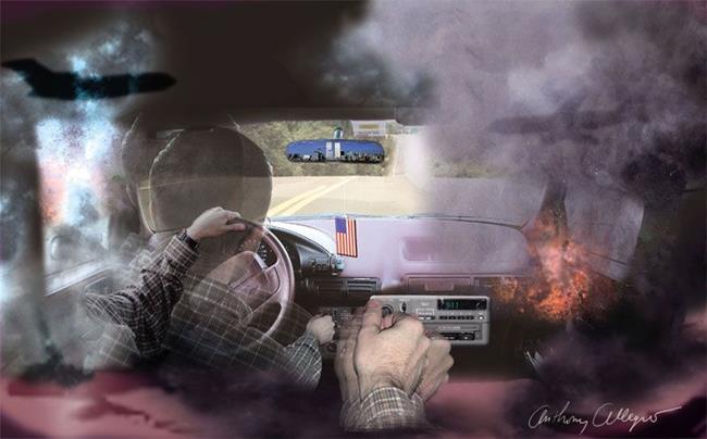 Art: 9 Eleven A Work Day Commute by Artist Anthony Allegro
