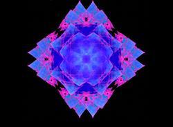 Art: Cosmic Flower by Artist christi lynn schwartzkopf