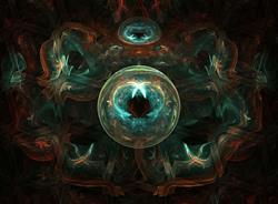 Art: Gaze Into the Crystal Ball by Artist christi lynn schwartzkopf