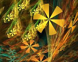 Art: Fractal Wild Flowers by Artist christi lynn schwartzkopf