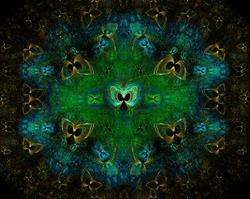 Art: Golden Butterflys by Artist christi lynn schwartzkopf