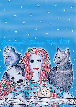 Art: Protector of Animals by Artist Sherry Key