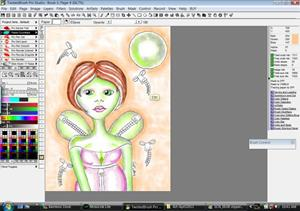 Detail Image for art Chartreuse Zipperfly Smuggling Fairy