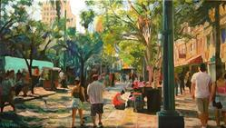 Art: Day at the Promenade by Artist Anthony Allegro