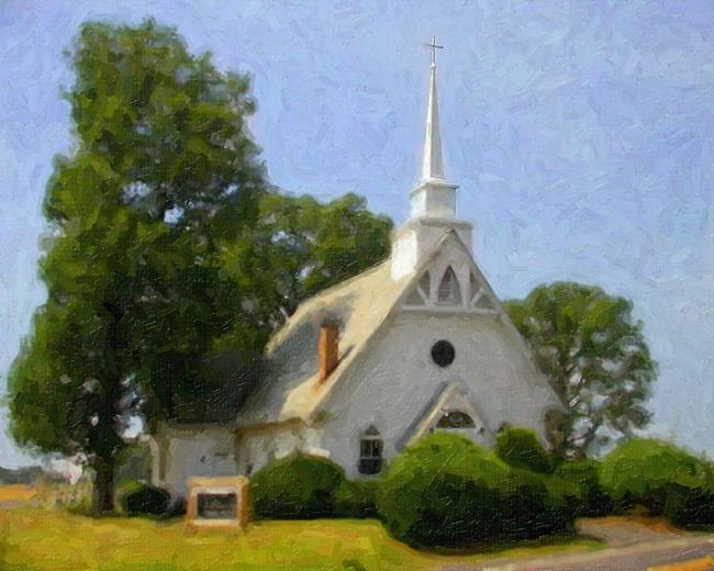 Art: St Michael's Church 1, Popular Springs, MD by Artist Anthony Allegro