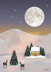 Art: Winter Moon by Artist Hannah Clements