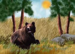 Art: Bear by Artist Hannah Clements