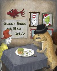 Art: Green Eggs and Spam?! by Artist Amanda Makepeace