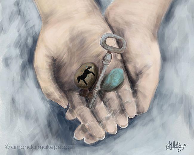 Art: Key to my Past by Artist Amanda Makepeace