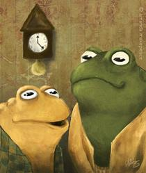 Art: Frog and Toad by Artist Amanda Makepeace