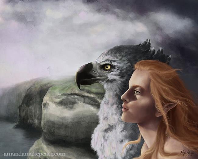 Art: FirstLight3sm.jpg by Artist Amanda Makepeace