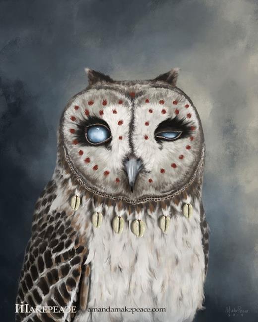 Art: The Seer by Artist Amanda Makepeace