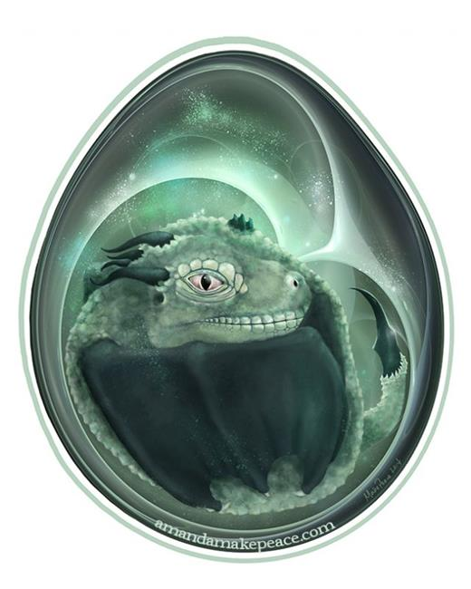 Art: Dragon's Egg 2014 by Artist Amanda Makepeace