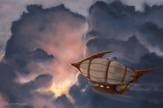 Art: Sunward Bound by Artist Amanda Makepeace
