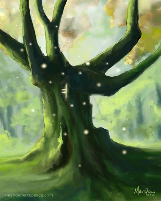 Art: Heart of the Forest by Artist Amanda Makepeace