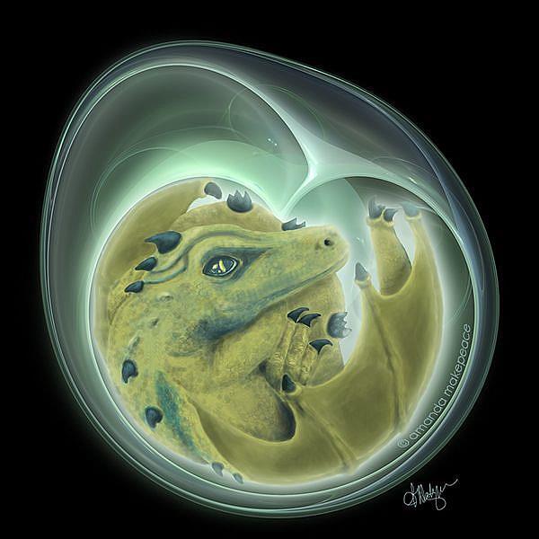 Art: The Dragon's Egg by Artist Amanda Makepeace