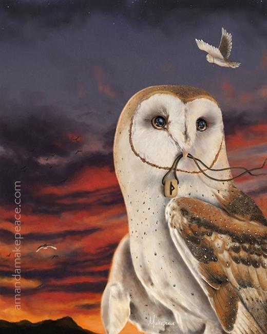 Art: Fly Fast by Artist Amanda Makepeace