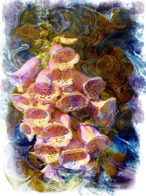 Art: Foxglove Dance by Artist Carolyn Schiffhouer