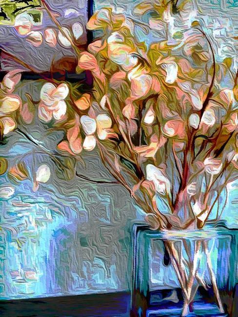 Art: Moneyplant Still by Artist Carolyn Schiffhouer