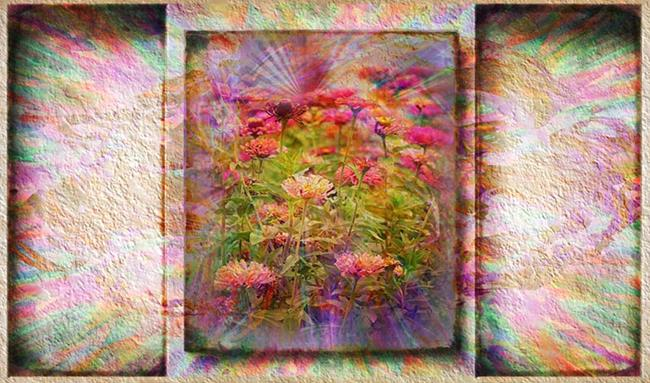Art: Explosion in Pink by Artist Carolyn Schiffhouer