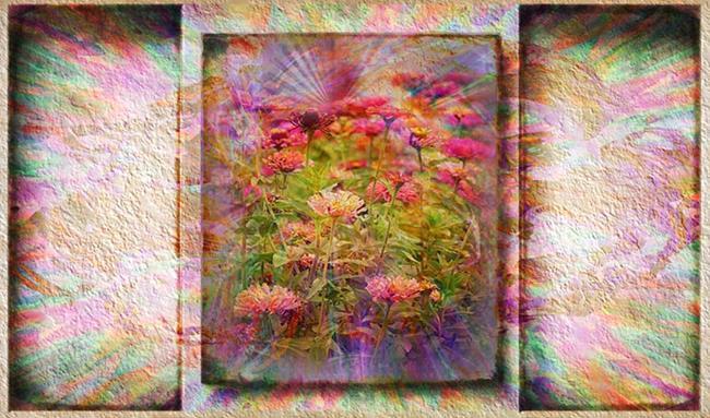 Art: Explosion in Pink by Artist Carolyn Schiffhouer