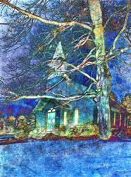 Art: A Winter's Night by Artist Carolyn Schiffhouer