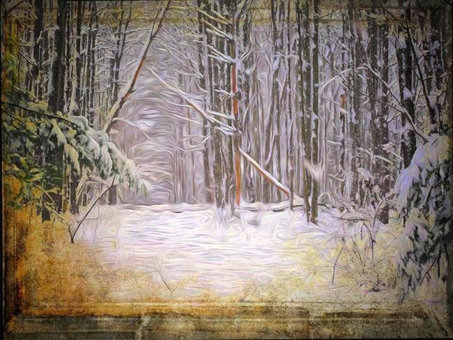 Art: Winter View by Artist Carolyn Schiffhouer