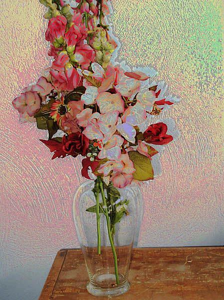 Art: Still Life with Flowers by Artist Carolyn Schiffhouer