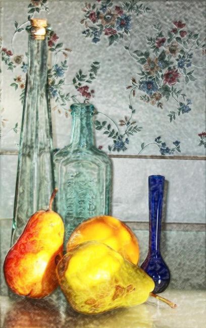 Art: Grandma's Pears by Artist Carolyn Schiffhouer