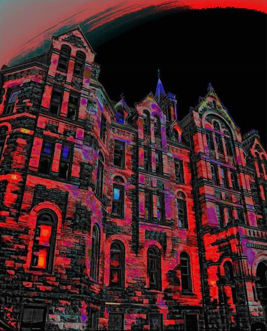 Art: Sorcerer's Castle by Artist Carolyn Schiffhouer