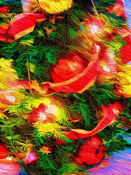 Art: Christmas Tree by Artist Carolyn Schiffhouer