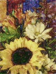 Art: Sunflower Mix by Artist Carolyn Schiffhouer
