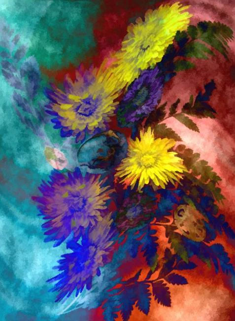 Art: Mums the Surprise by Artist Carolyn Schiffhouer