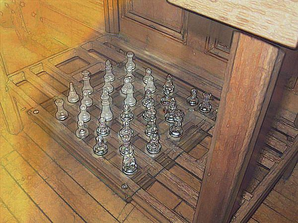 Art: The Chess Set by Artist Carolyn Schiffhouer