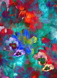 Art: Psych Lillies by Artist Carolyn Schiffhouer