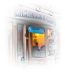 Art: Michelle's Cafe by Artist Carolyn Schiffhouer