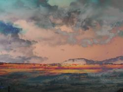 Art: Storm Mesa by Artist Carolyn Schiffhouer