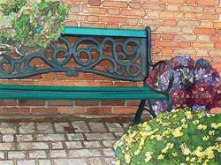 Art: Niagara Bench by Artist Carolyn Schiffhouer