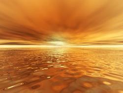 Art: Golden Sunset by Artist Carolyn Schiffhouer