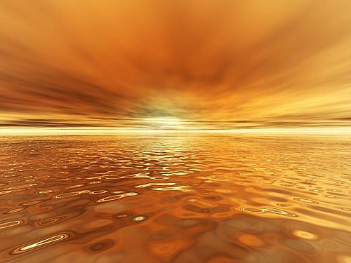 Art: Golden Sunset by Artist Carolyn Schiffhouer
