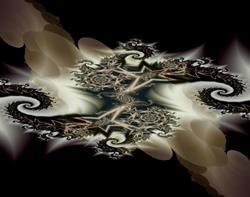 Art: Black Star Nebula by Artist Carolyn Schiffhouer