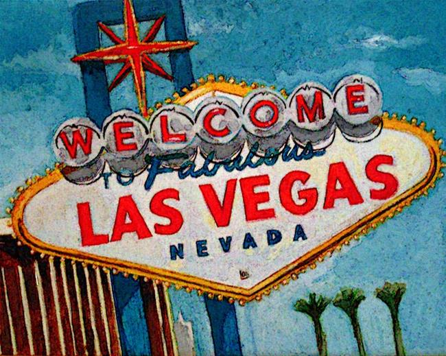 Art: LV Welcome Sign state2 by Artist Muriel Areno