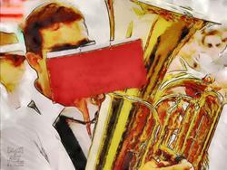 Art: Tuba by Artist Deanne Flouton