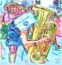 Art: Band Folly by Artist Deanne Flouton