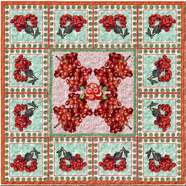 Art: Berry Quilt by Artist Deanne Flouton