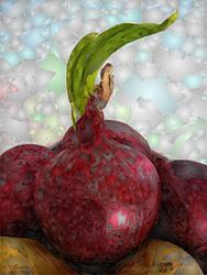 Art: Red Onion by Artist Deanne Flouton