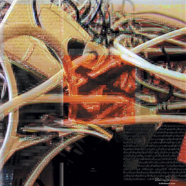 Art: wire by Artist Richard R. Snyder