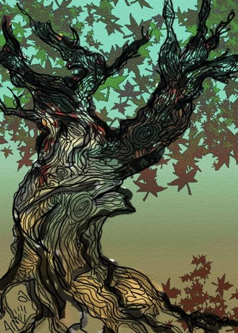 Art: The Extremely Twisted Tree by Artist Aimee Marie Wheaton